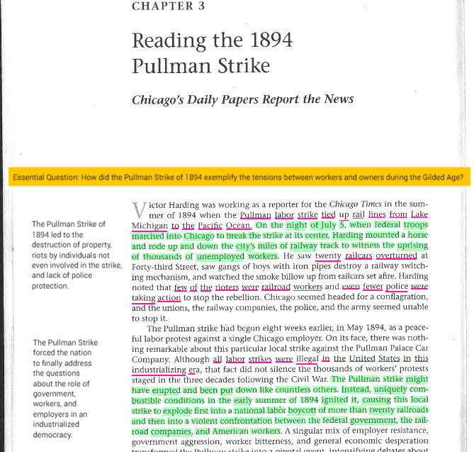 the pullman strike essay Populism, an agrarian backlash against industrialism, fed on the economic problems of the era and created new urgency in labor activism toward the end of the harrison administration.